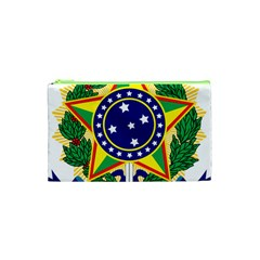 Coat of Arms of Brazil Cosmetic Bag (XS)