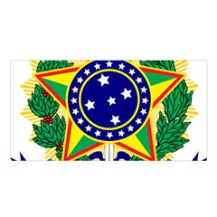 Coat of Arms of Brazil Satin Shawl