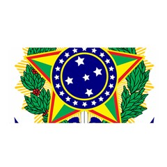 Coat of Arms of Brazil Satin Wrap