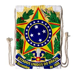 Coat of Arms of Brazil Drawstring Bag (Large)