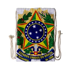 Coat of Arms of Brazil Drawstring Bag (Small)