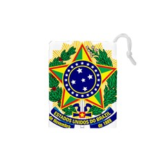 Coat of Arms of Brazil Drawstring Pouches (XS)