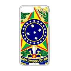 Coat of Arms of Brazil Apple iPhone 7 Plus White Seamless Case