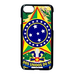 Coat of Arms of Brazil Apple iPhone 7 Seamless Case (Black)