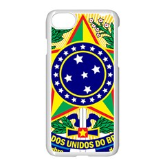 Coat of Arms of Brazil Apple iPhone 7 Seamless Case (White)
