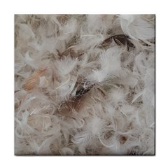 Down Comforter Feathers Goose Duck Feather Photography Tile Coasters