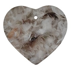 Down Comforter Feathers Goose Duck Feather Photography Ornament (Heart)