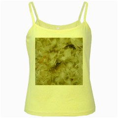Down Comforter Feathers Goose Duck Feather Photography Yellow Spaghetti Tank