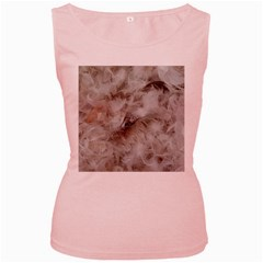 Down Comforter Feathers Goose Duck Feather Photography Women s Pink Tank Top