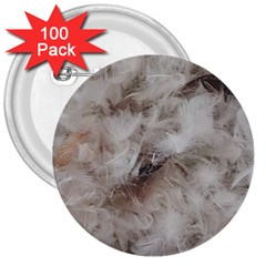 Down Comforter Feathers Goose Duck Feather Photography 3  Buttons (100 pack)