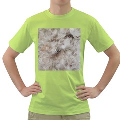 Down Comforter Feathers Goose Duck Feather Photography Green T-Shirt