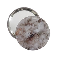 Down Comforter Feathers Goose Duck Feather Photography 2.25  Handbag Mirrors