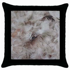 Down Comforter Feathers Goose Duck Feather Photography Throw Pillow Case (Black)