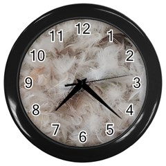 Down Comforter Feathers Goose Duck Feather Photography Wall Clocks (Black)