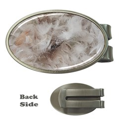Down Comforter Feathers Goose Duck Feather Photography Money Clips (Oval)