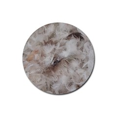 Down Comforter Feathers Goose Duck Feather Photography Rubber Coaster (Round)