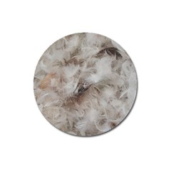 Down Comforter Feathers Goose Duck Feather Photography Magnet 3  (Round)