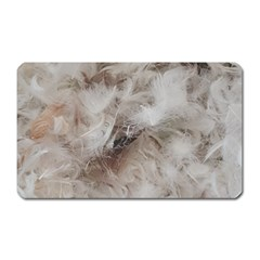 Down Comforter Feathers Goose Duck Feather Photography Magnet (Rectangular)