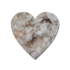 Down Comforter Feathers Goose Duck Feather Photography Heart Magnet