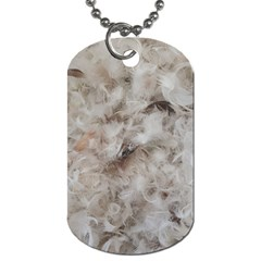 Down Comforter Feathers Goose Duck Feather Photography Dog Tag (One Side)