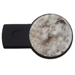 Down Comforter Feathers Goose Duck Feather Photography USB Flash Drive Round (1 GB)