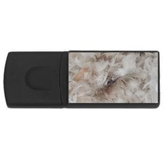 Down Comforter Feathers Goose Duck Feather Photography USB Flash Drive Rectangular (1 GB)