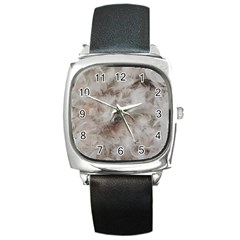 Down Comforter Feathers Goose Duck Feather Photography Square Metal Watch