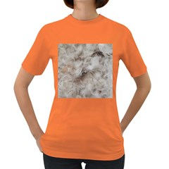 Down Comforter Feathers Goose Duck Feather Photography Women s Dark T-Shirt