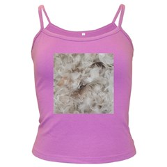 Down Comforter Feathers Goose Duck Feather Photography Dark Spaghetti Tank