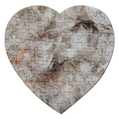 Down Comforter Feathers Goose Duck Feather Photography Jigsaw Puzzle (Heart)