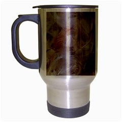 Down Comforter Feathers Goose Duck Feather Photography Travel Mug (Silver Gray)
