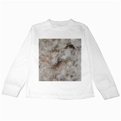 Down Comforter Feathers Goose Duck Feather Photography Kids Long Sleeve T-Shirts