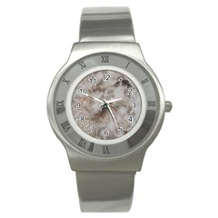 Down Comforter Feathers Goose Duck Feather Photography Stainless Steel Watch