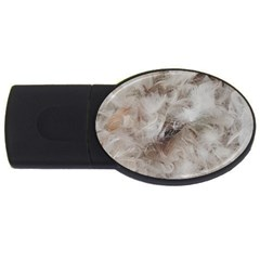 Down Comforter Feathers Goose Duck Feather Photography USB Flash Drive Oval (4 GB)