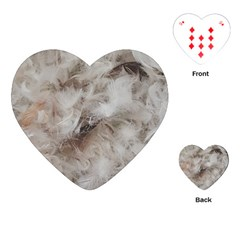Down Comforter Feathers Goose Duck Feather Photography Playing Cards (Heart)