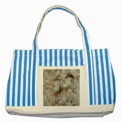 Down Comforter Feathers Goose Duck Feather Photography Striped Blue Tote Bag