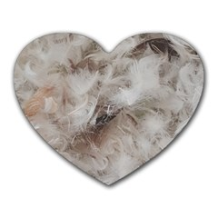 Down Comforter Feathers Goose Duck Feather Photography Heart Mousepads