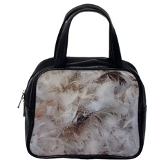 Down Comforter Feathers Goose Duck Feather Photography Classic Handbags (One Side)