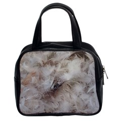 Down Comforter Feathers Goose Duck Feather Photography Classic Handbags (2 Sides)