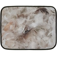 Down Comforter Feathers Goose Duck Feather Photography Fleece Blanket (Mini)