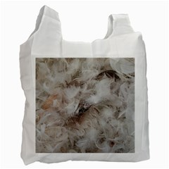 Down Comforter Feathers Goose Duck Feather Photography Recycle Bag (Two Side)