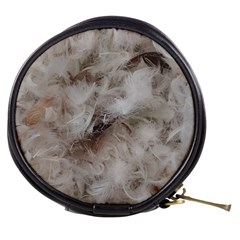 Down Comforter Feathers Goose Duck Feather Photography Mini Makeup Bags
