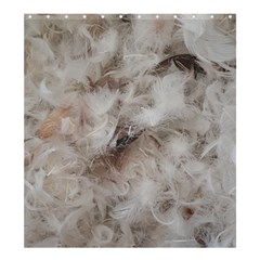 Down Comforter Feathers Goose Duck Feather Photography Shower Curtain 66  x 72  (Large)