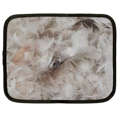 Down Comforter Feathers Goose Duck Feather Photography Netbook Case (XXL)