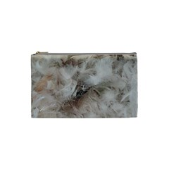 Down Comforter Feathers Goose Duck Feather Photography Cosmetic Bag (Small)