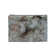Down Comforter Feathers Goose Duck Feather Photography Cosmetic Bag (Medium)