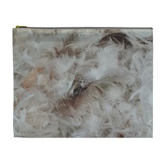 Down Comforter Feathers Goose Duck Feather Photography Cosmetic Bag (XL)