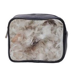 Down Comforter Feathers Goose Duck Feather Photography Mini Toiletries Bag 2-Side