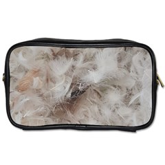 Down Comforter Feathers Goose Duck Feather Photography Toiletries Bags 2-Side