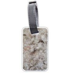 Down Comforter Feathers Goose Duck Feather Photography Luggage Tags (One Side)